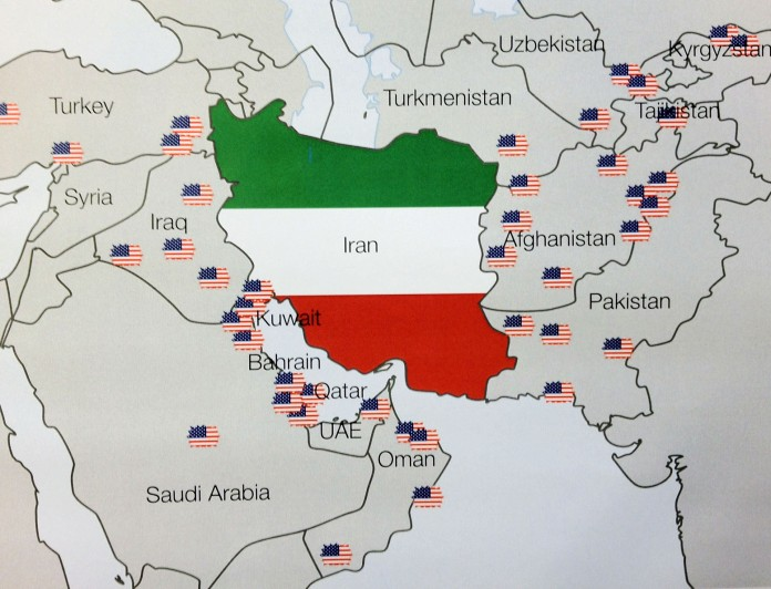 US Military Bases around Iran